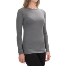 Cuddl Duds Stretch Microfiber Top - Long Sleeve (For Women) in Dark Grey Heather - Closeouts
