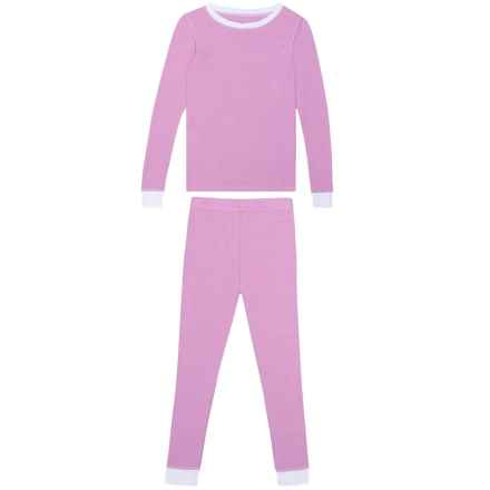Cuddl Duds Thermal Base Layer Set - Crew Neck, Long Sleeve (For Toddler Girls) in Heather Lilac - Closeouts