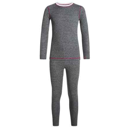 Cuddl Duds Thermal Base Layer Set - Long Sleeve (For Big and Little Girls) in Nickel Grey Heather - Closeouts