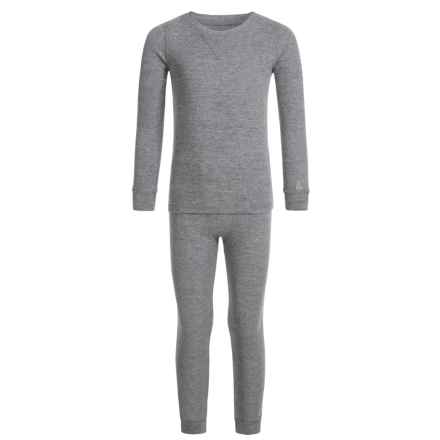 Cuddl Duds Thermal Top and Pants Base Layer Set - Long Sleeve (For Toddler Boys) in Nickel Grey Heather - Closeouts