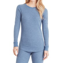 Cuddl Duds Thermal Top - Crew Neck, Long Sleeve (For Women) in Blue Heather - Closeouts