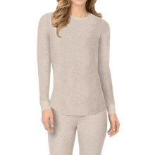 Cuddl Duds Thermal Top - Crew Neck, Long Sleeve (For Women) in Oatmeal Heather - Closeouts