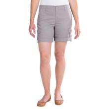 Cuffed Cargo Shorts (For Women) in Light Grey - 2nds