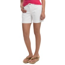 Cuffed Denim Shorts (For Women) in White - 2nds