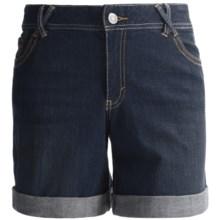 Cuffed Jean Shorts (For Women) in Dark Wash - 2nds