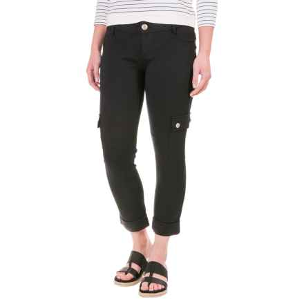 Cuffed Knit Cargo Pants (For Women) in Black - 2nds