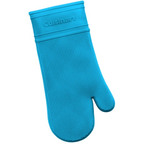 Cuisinart All Silicone Oven Mitt - Quilted Lining in Blue