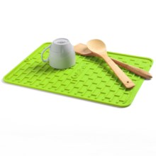 Cuisinart All Silicone Subway Tile Dish Dry Mat in Green - Overstock