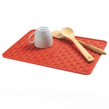 Cuisinart All Silicone Subway Tile Dish Dry Mat in Red Dahlia - Overstock