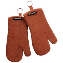 Cuisinart Extra-Thick Terry Oven Mitts - 2-Pack in Burnt Orange - Closeouts