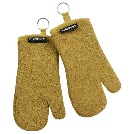 Cuisinart Extra-Thick Terry Oven Mitts - 2-Pack in Green