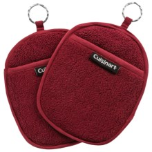 Cuisinart Extra-Thick Terry Pot Holders - 2-Pack in Crimson - Closeouts