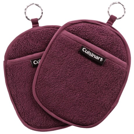 Cuisinart Extra-Thick Terry Pot Holders - 2-Pack in Eggplant