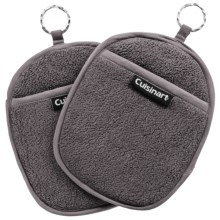 Cuisinart Extra-Thick Terry Pot Holders - 2-Pack in Grey - Closeouts