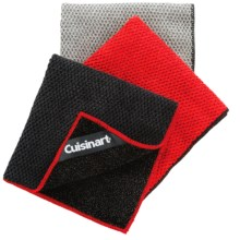 Cuisinart Microfiber Scrubber Cloths - 3-Pack in Black/Red/Grey - Closeouts