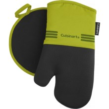 Cuisinart Neoprene Oven Mitt and Pot Holder Set in Bright Chartreuse - Closeouts
