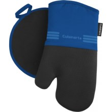 Cuisinart Neoprene Oven Mitt and Pot Holder Set in Nautical Blue - Closeouts