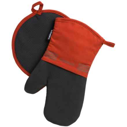Cuisinart Neoprene Oven Mitt and Pot Holder Set in Pumpkin - Closeouts