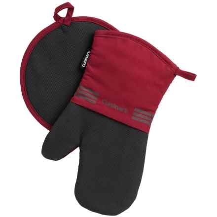 Cuisinart Neoprene Oven Mitt and Pot Holder Set in Red Daliah - Closeouts