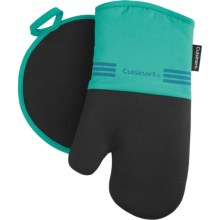 Cuisinart Neoprene Oven Mitt and Pot Holder Set in Turquoise - Closeouts