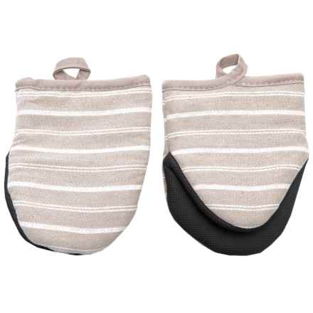 Cuisinart Neoprene Stripe Mini Oven Mitts - 2-Pack in Feather Gray - Closeouts