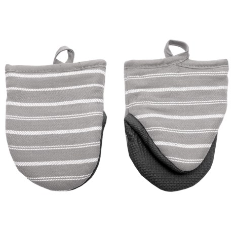 Cuisinart Neoprene Stripe Mini Oven Mitts - 2-Pack in Grey