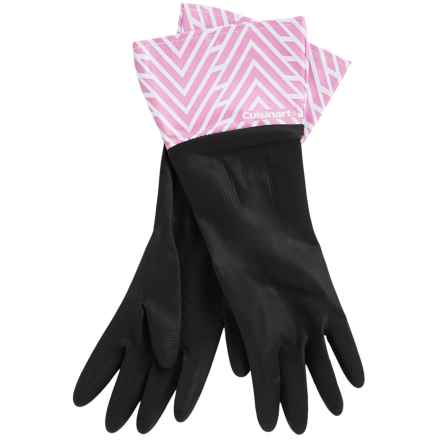 Cuisinart Printed Latex Cleaning Gloves in Arrow Chevron Black - Closeouts