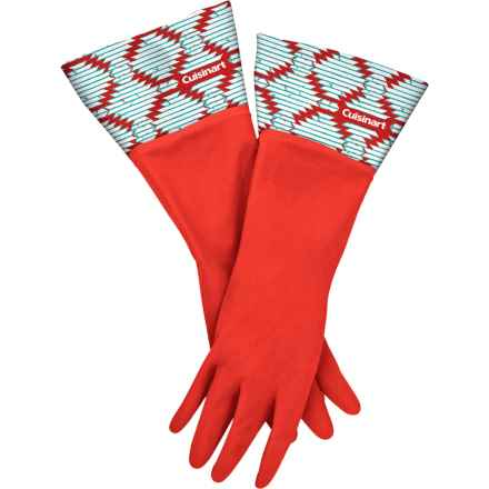 Cuisinart Printed Latex Cleaning Gloves in Aztec Red - Closeouts