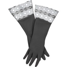 Cuisinart Printed Latex Cleaning Gloves in Barcodes Black - Closeouts