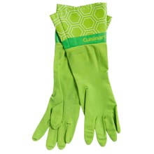 Cuisinart Printed Latex Cleaning Gloves in Bee Hive Lime - Closeouts