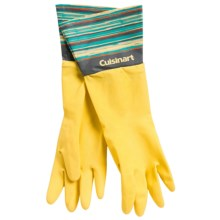 Cuisinart Printed Latex Cleaning Gloves in Brush Yellow - Closeouts