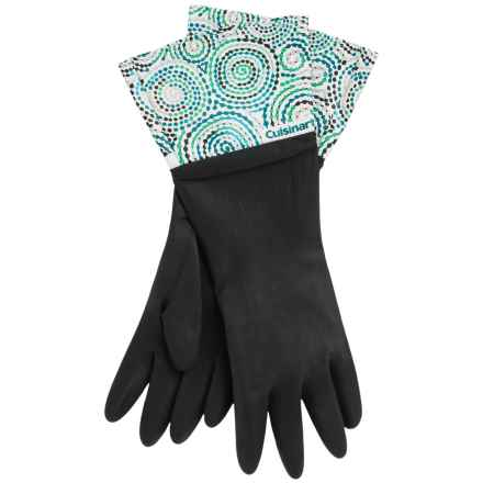 Cuisinart Printed Latex Cleaning Gloves in Ceramic Black - Closeouts