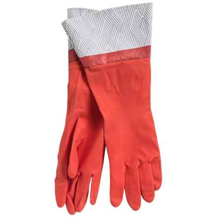 Cuisinart Printed Latex Cleaning Gloves in Chequer Poppy Red - Closeouts