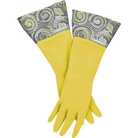 Cuisinart Printed Latex Cleaning Gloves in Circles Yellow - Closeouts