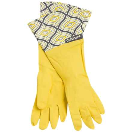 Cuisinart Printed Latex Cleaning Gloves in Diamonds Yellow - Closeouts