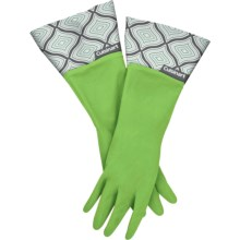 Cuisinart Printed Latex Cleaning Gloves in Geo Circles Green - Closeouts