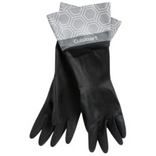 Cuisinart Printed Latex Cleaning Gloves in Honeycomb Charcoal - Closeouts