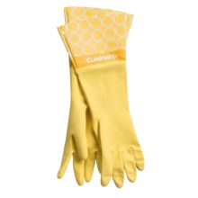 Cuisinart Printed Latex Cleaning Gloves in Links Yellow - Closeouts