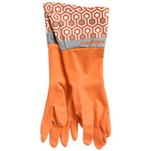 Cuisinart Printed Latex Cleaning Gloves in Maze Orange - Closeouts
