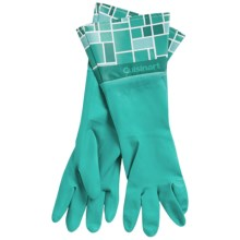 Cuisinart Printed Latex Cleaning Gloves in Mosaic Aqua - Closeouts