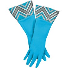 Cuisinart Printed Latex Cleaning Gloves in Pixelated Aqua - Closeouts
