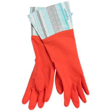 Cuisinart Printed Latex Cleaning Gloves in Texture Stripe Red - Closeouts