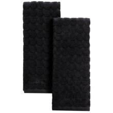 Cuisinart Sculpted Circles Kitchen Towels - Set of 2 in Black - Closeouts