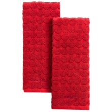 Cuisinart Sculpted Circles Kitchen Towels - Set of 2 in Red - Closeouts
