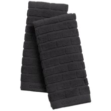 Cuisinart Sculpted Subway Tile Kitchen Towels - Set of 2 in Black - Closeouts