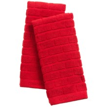 Cuisinart Sculpted Subway Tile Kitchen Towels - Set of 2 in Red - Closeouts