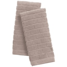 Cuisinart Sculpted Subway Tile Kitchen Towels - Set of 2 in Taupe - Closeouts