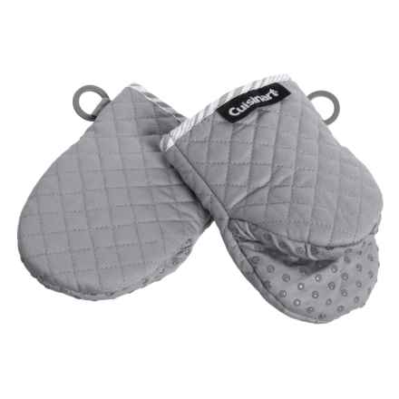 Cuisinart Silicone Mini Oven Mitts - 2-Pack in Grey - Closeouts