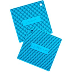 Cuisinart Square Silicone Pot Holders - Silicone, 2-Pack in Blue