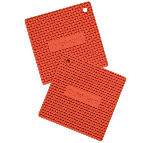 Cuisinart Square Silicone Pot Holders - Silicone, 2-Pack in Red Dahlia